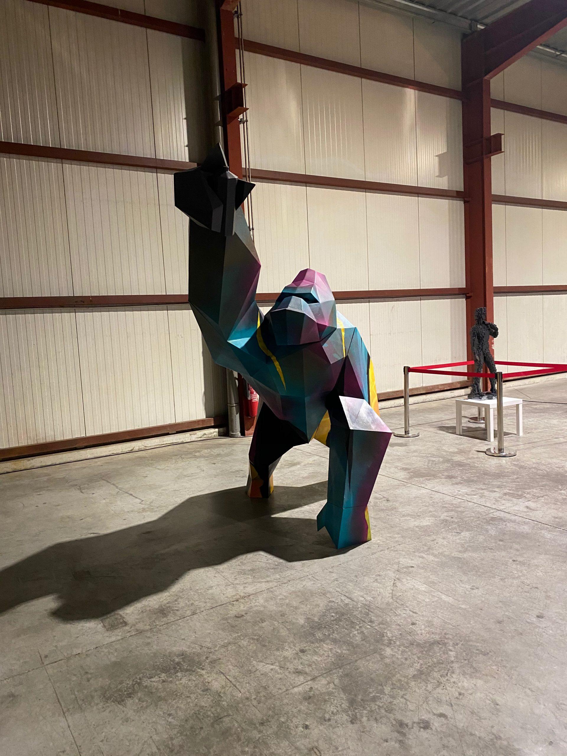 statue gorille thermolaqué multi couleurs, Thermolaq82